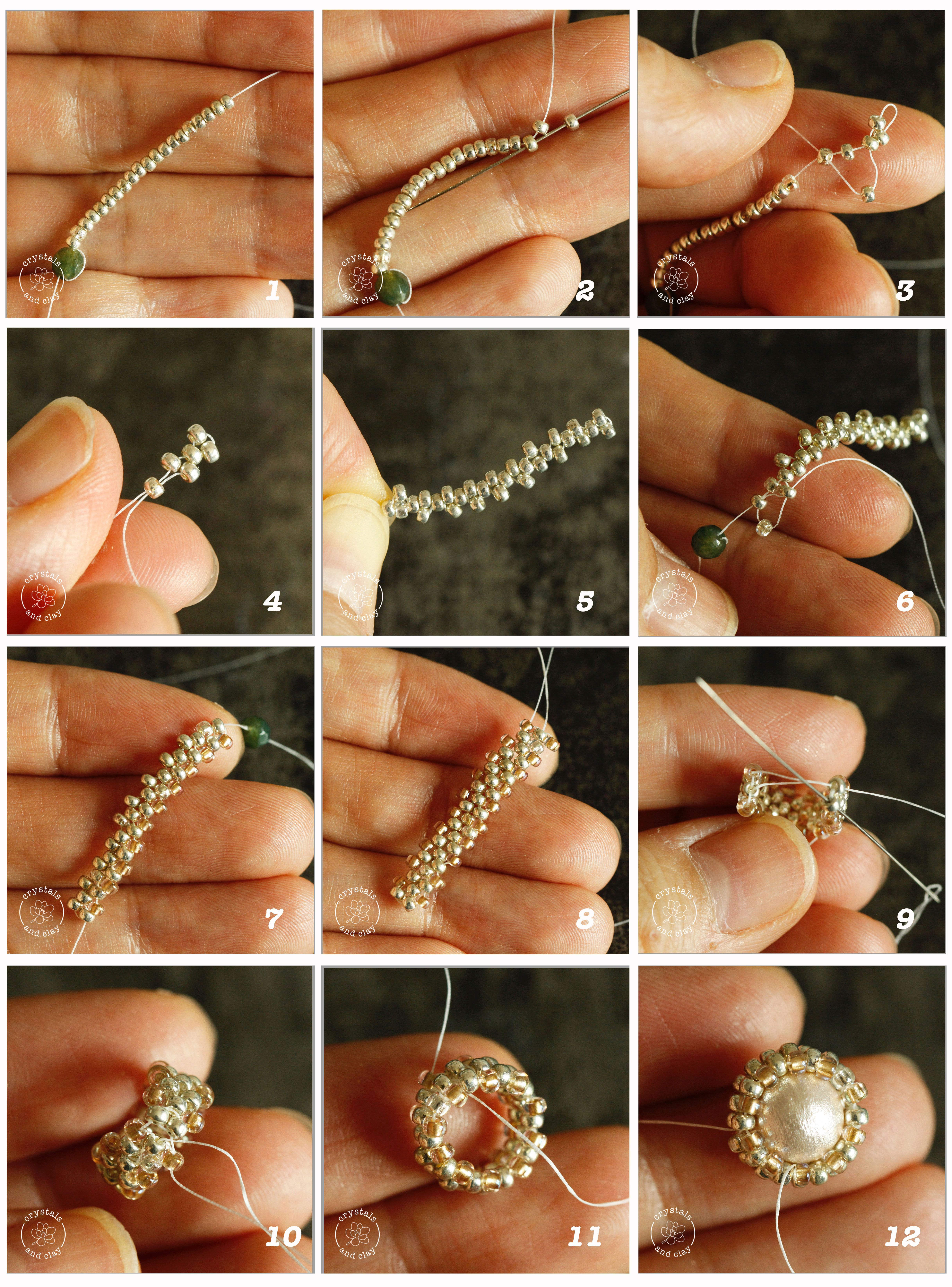 how to make beaded ring using peyote stitch This tutorial shows you step-by-step how to make a bead