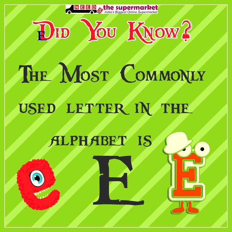 Didyouknow The Most Commonly Used Letter In The Alphabet Is E
