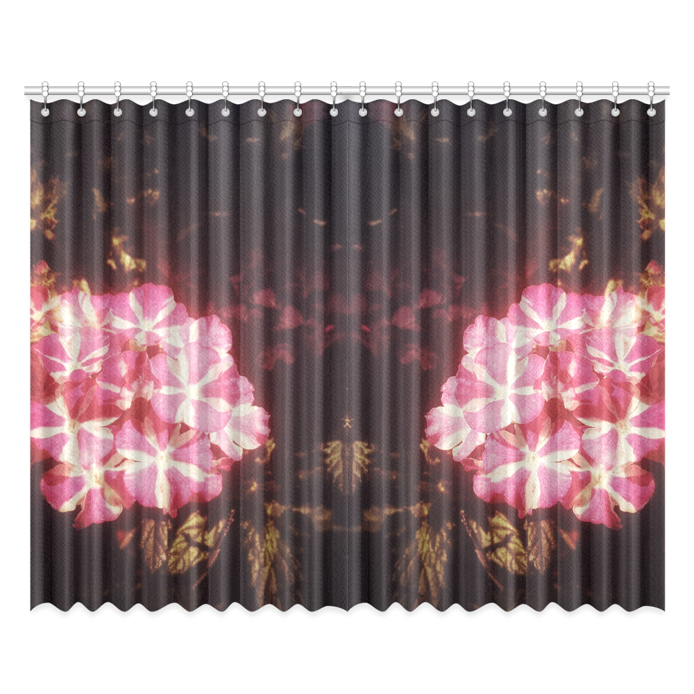 """Little Pink Stars Window Curtain 52""""x84""""(Two Pieces)."""