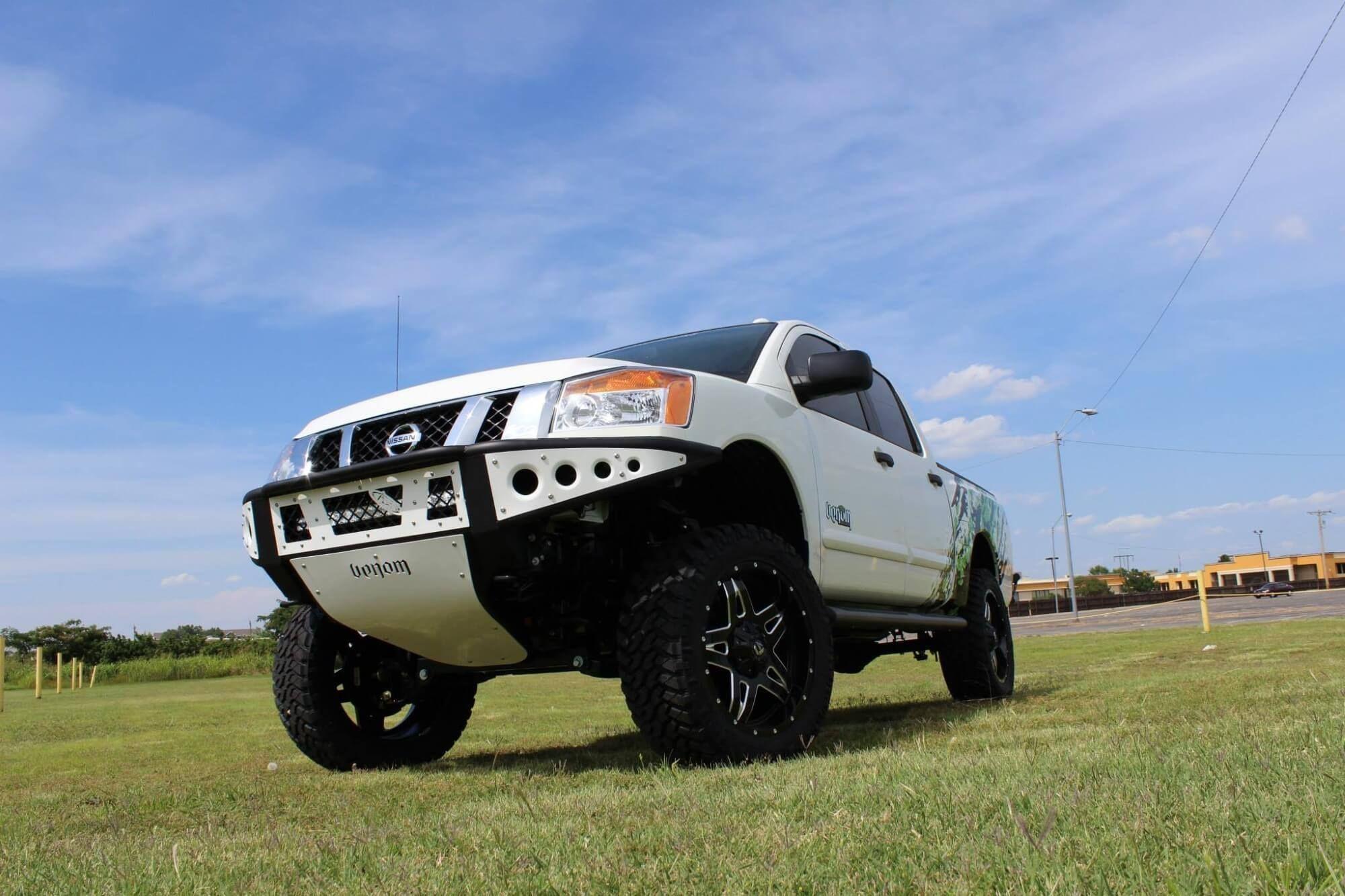 2004 2014 nissan titan venom front bumper off road bumpers aftermarket custom truck bumpers