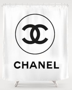 Chanel Shower Curtain Google Search Chanel Room Chanel Decor