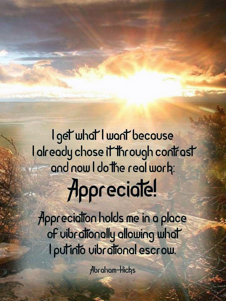 AbrahamHicks *appreciation* AbrahamHicks quotes