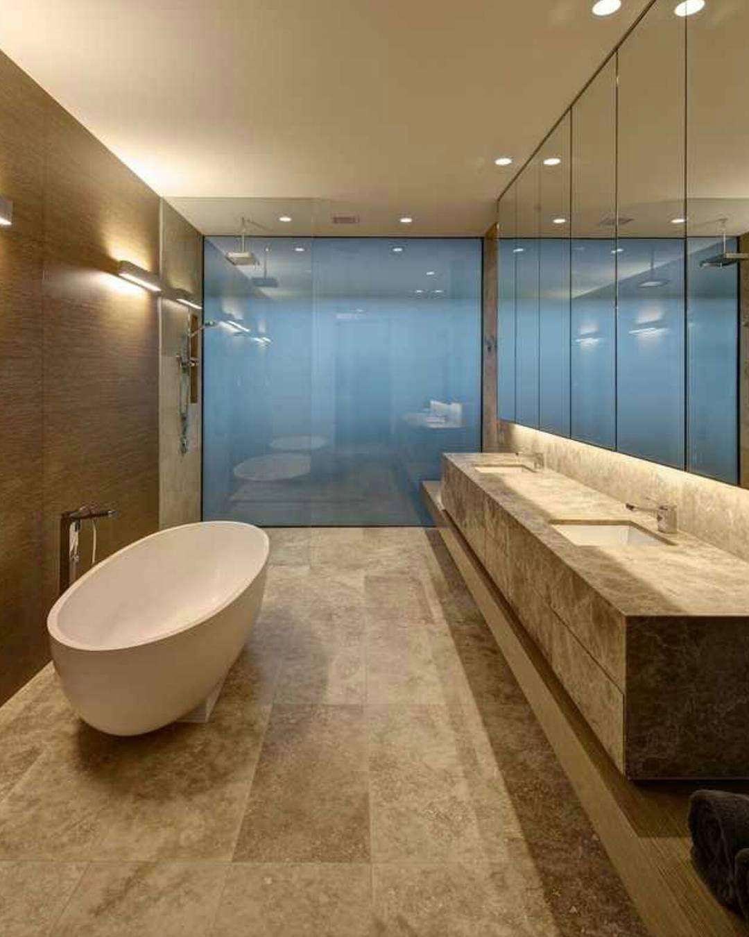 modern mansion bathroom. plane house bathroom- nice glass mirror tag a friend follow @dopedecors --- modern mansion bathroom p