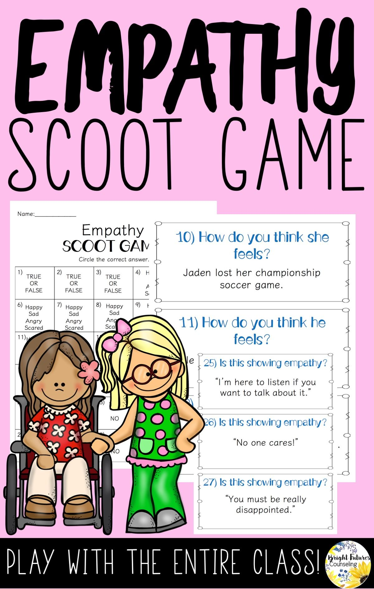 Empathy Scoot Game School Counseling Game