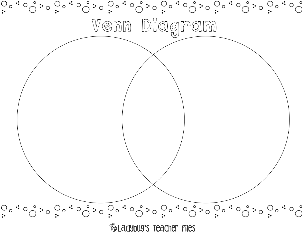 Venn Diagram {printable} | Venn diagram printable, Graphic ...