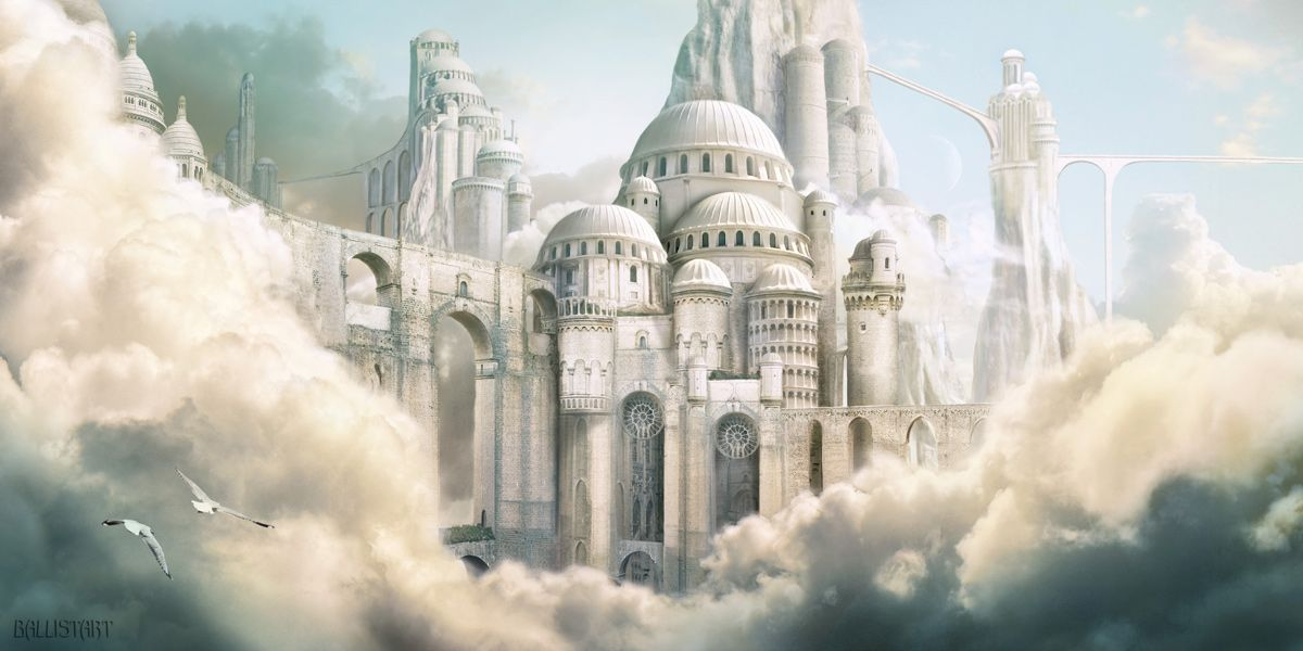 landscapes castles fantasy art - photo #33