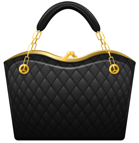 Black Handbag Png Clip Art Trendy Handbags Purses Purses Crossbody Purses And Handbags