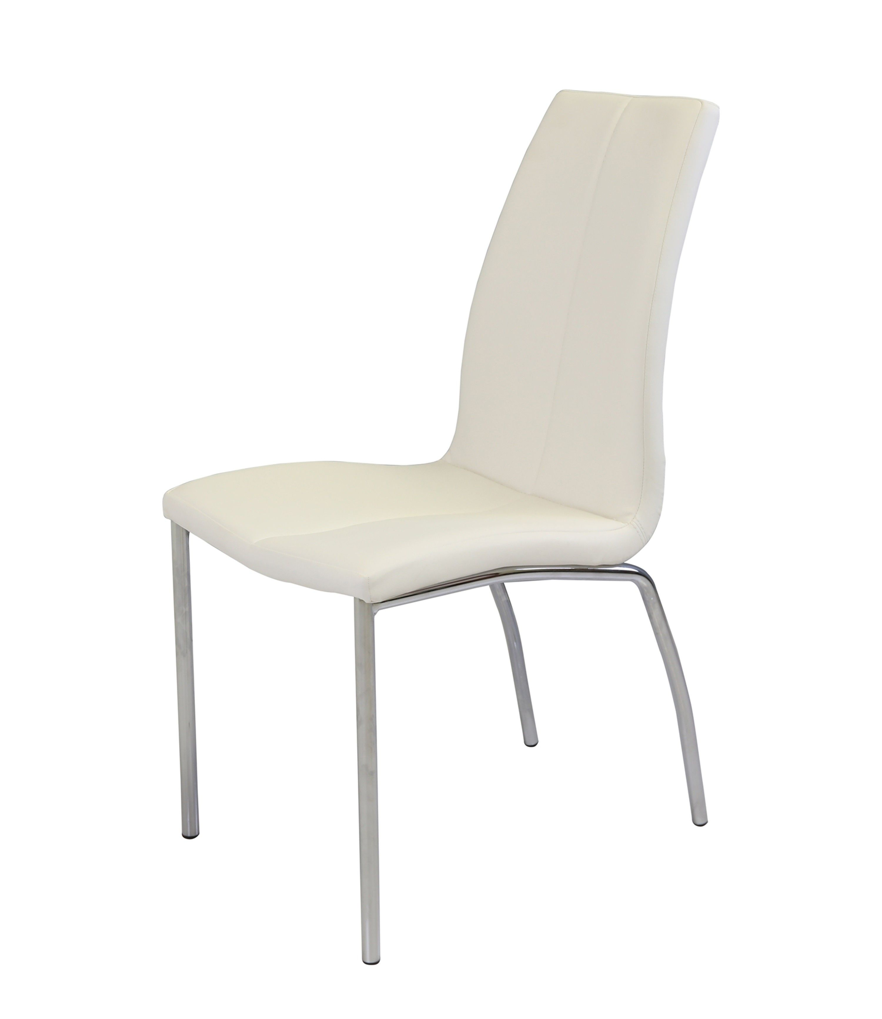 Boston Faux Leather Modern Dining Chair White Set Of 4