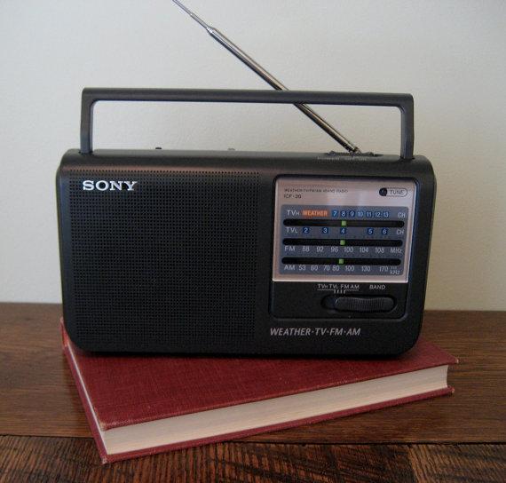 Emergency Weather Radio - Sony 4 Band Portable Radio