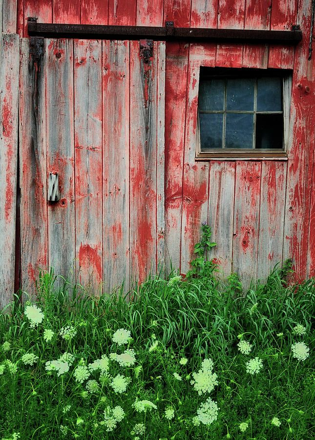 Deserted and weathered old barn in Vernon, Connecticut.  Love the faded red.