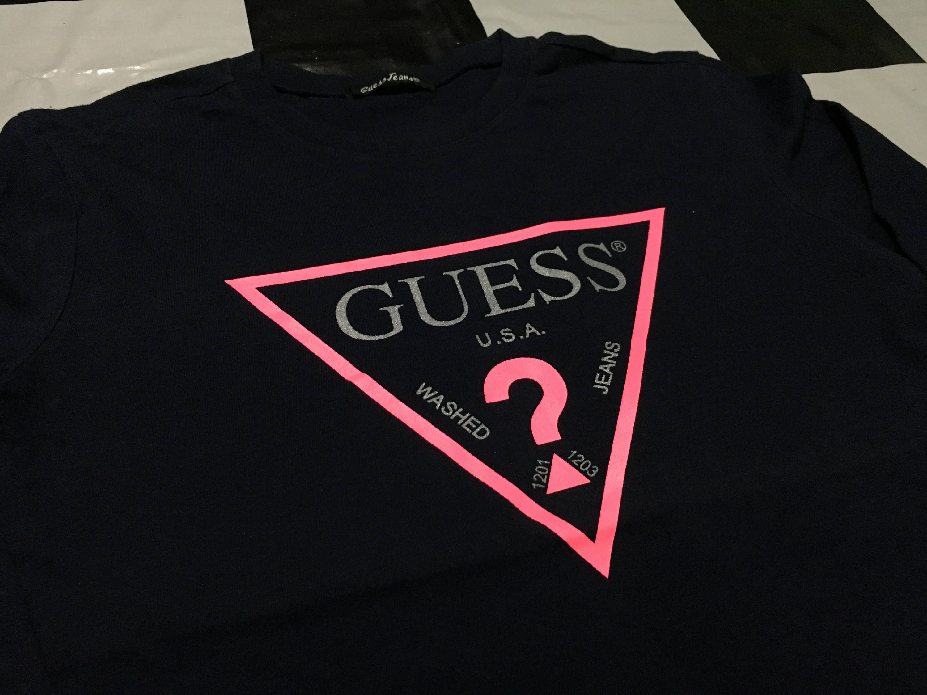 Vintage Guess Jeans Logo Long Sleeve Shirt Guess By