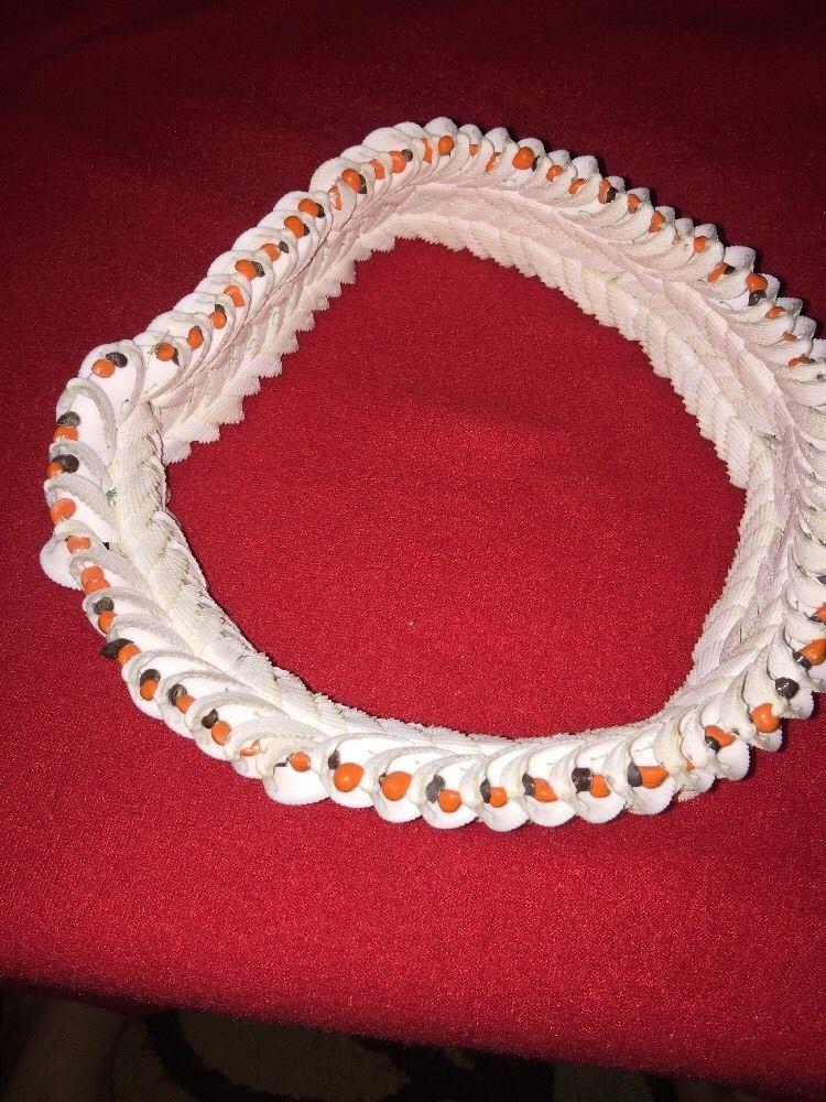 BEAUTIFUL RARE Vintage Hawaiian Wedding Crown Sea Shell Polynesian 1960's BOHO  | eBay