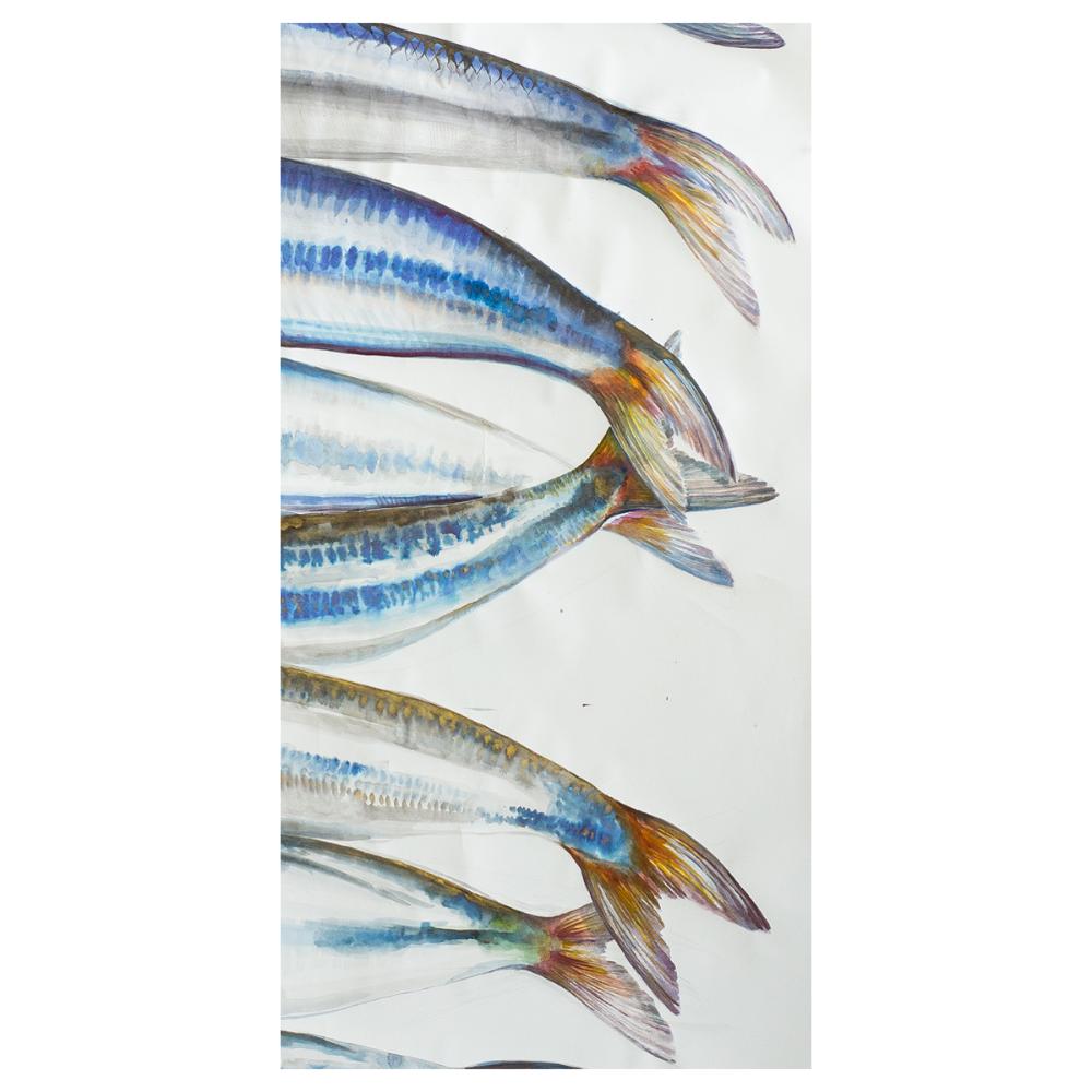 Mae Waite - Bait Fish (Original Painting) - 808Arts.com