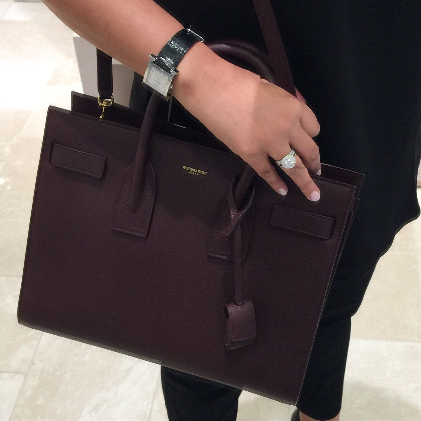 1264ec90719 Saint Laurent Sac De Jour Small grain leather Burgundy! Perfect bag for  Fall! My next bag?