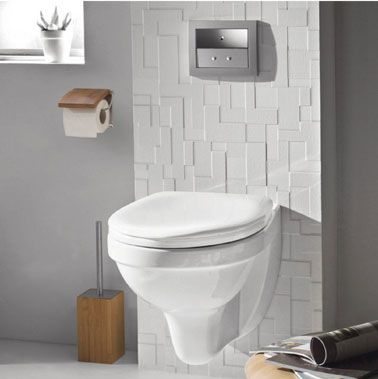 D co wc design avec une cuvette wc suspendu - Decoration toilette suspendu ...