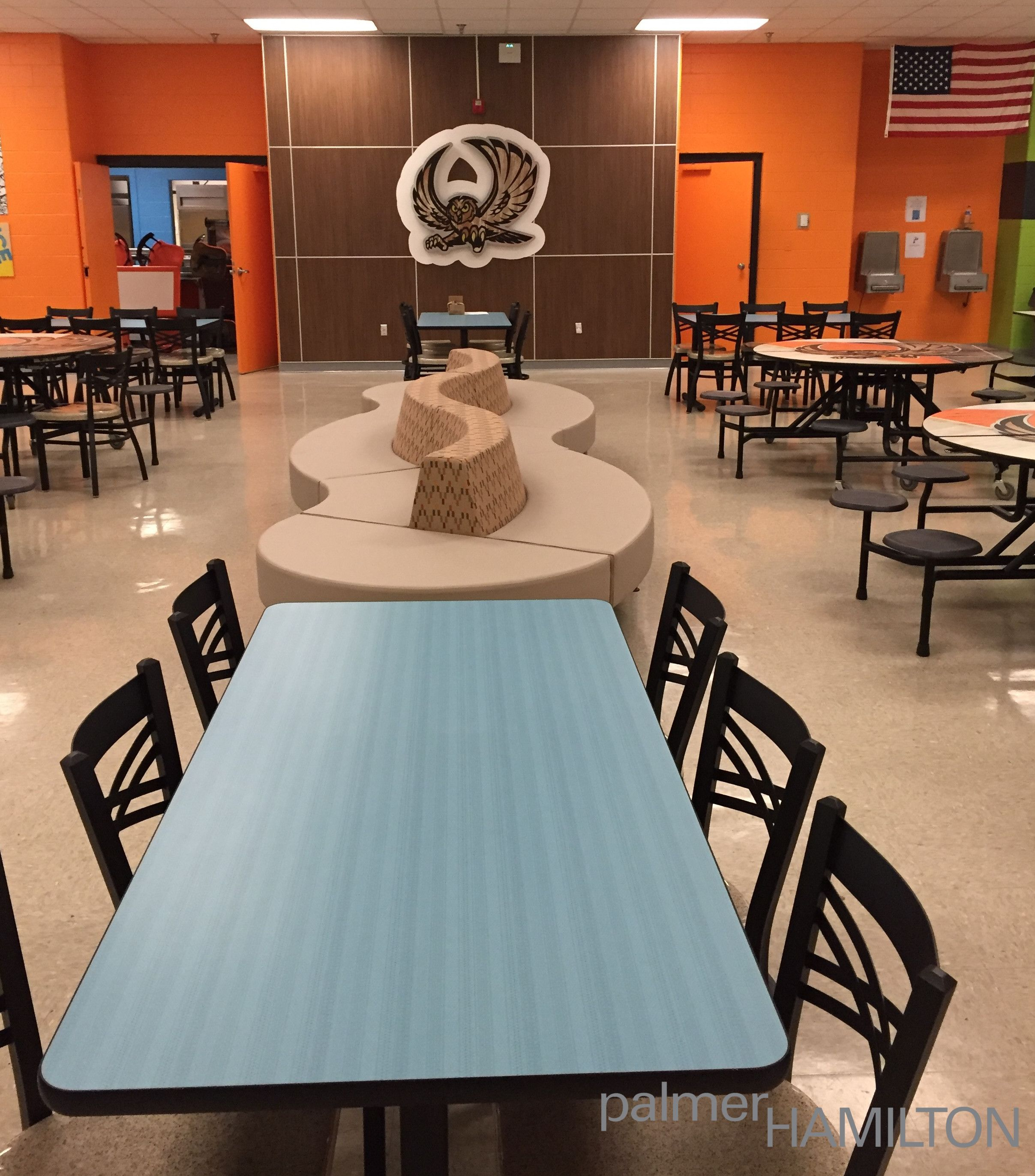 Middle School Dining And Collaboration Spacelearn More At Www New School Dining Room Inspiration