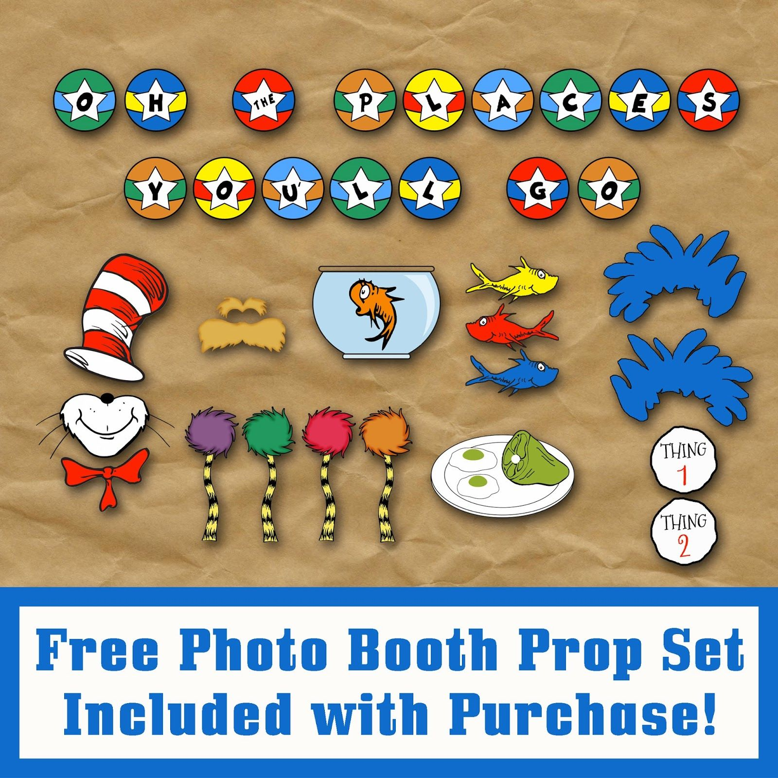 Free Dr Seuss Photo Booth Props Great For Back To School Or Read Across America