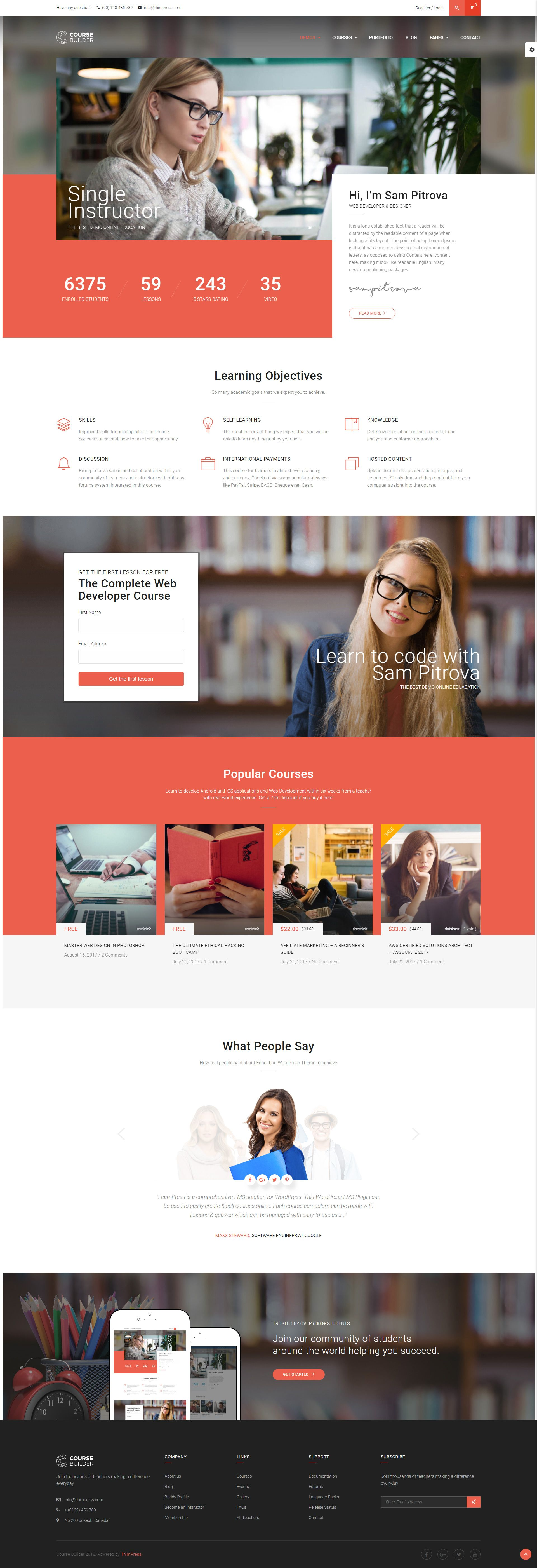 The Wordpress Lms Course Builder Theme Is A Multi Purpose High Quality Elearning Wordpress Lms Learning M Learning Management System Education Online Courses