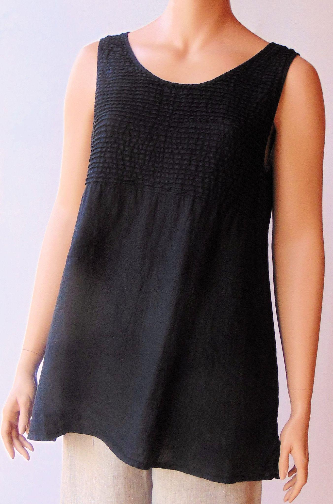 Grizas Inspiration Black Linen Tunic Pinterest Costumes Sleeveless ApOAqwng