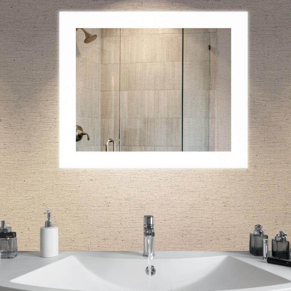 Dyconn faucet royal wallmounted vanity bathroom led backlit mirror