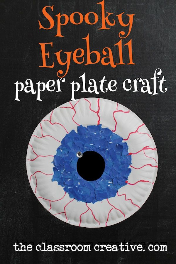 spooky eyeball paper plate craft halloween halloween decorations halloween crafts halloween ideas diy halloween halloween craft halloween craft ideas - Halloween Crafts For The Classroom