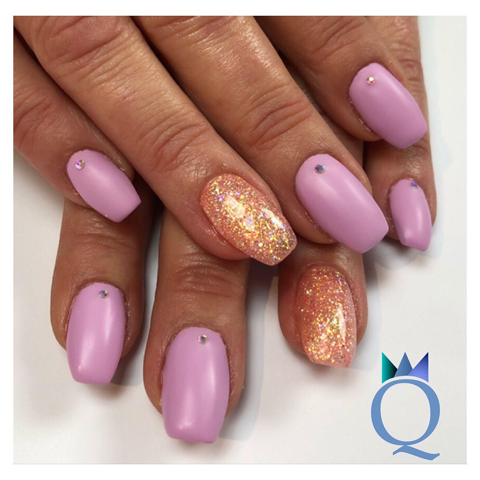 Coffinnails Gelnails Nails Lilac Glitter Ballerinaform