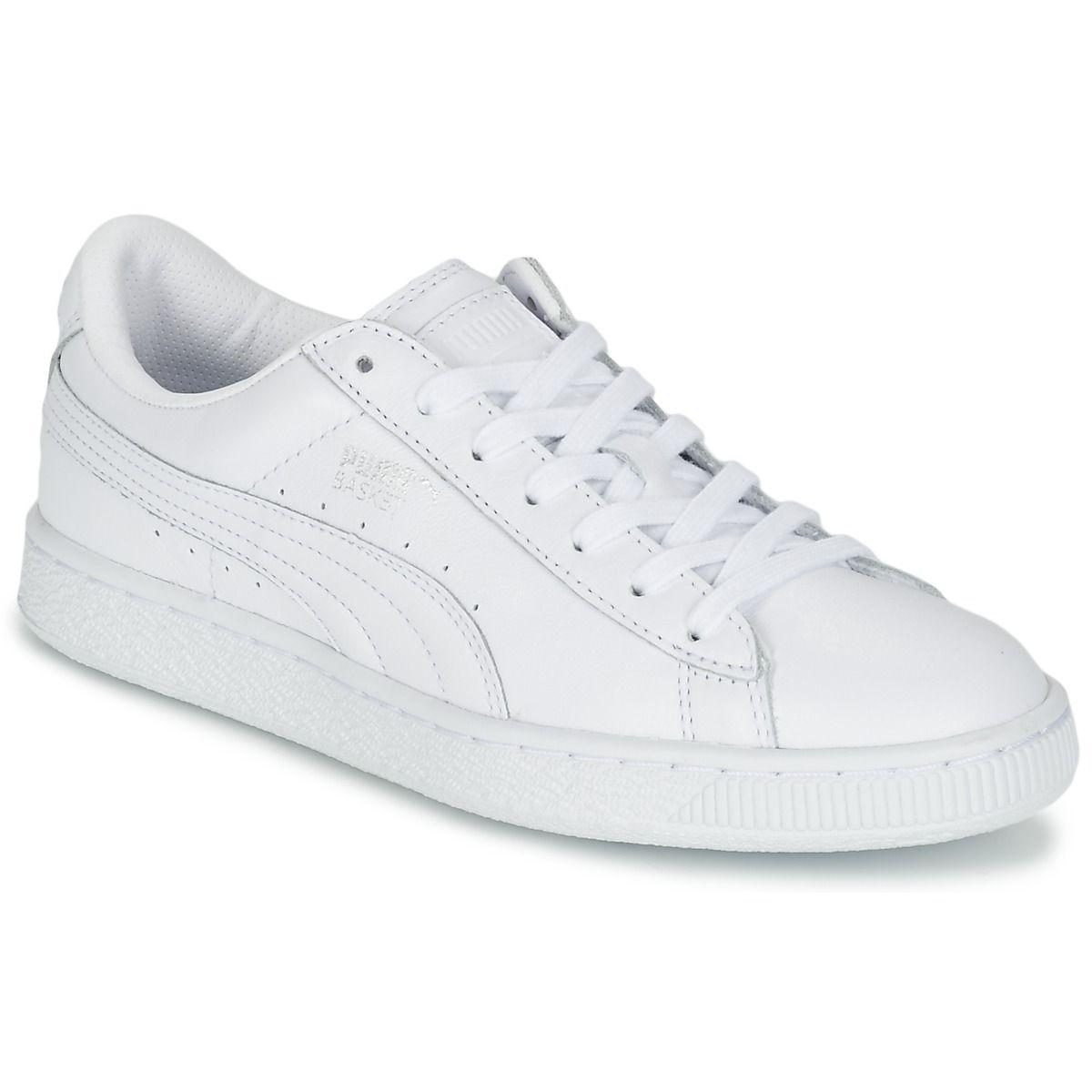 Puma Basket Classic LFS M White-White
