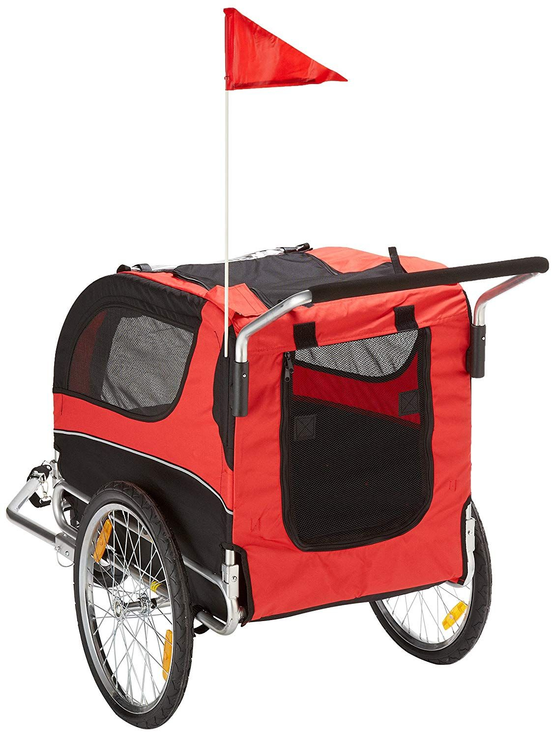 MDOG2 MK0291 Comfy Pet Bike Trailer/Jogging Stroller, Red