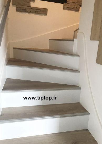 R novation escalier b ton par habillage stratifi 68460 lutterbach step by step pinterest - Renovation escalier par recouvrement ...