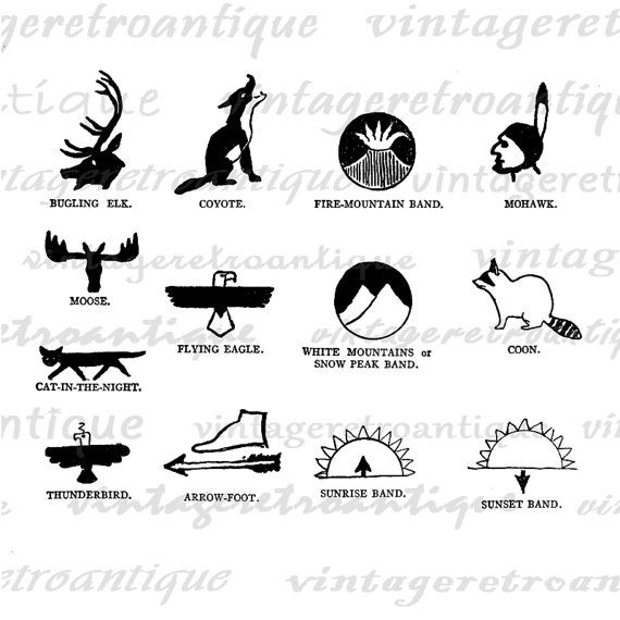 Native American Symbols Printable Google Search 7th 8th Beg