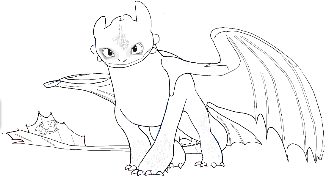 How to Draw Toothless from How to Train Your Dragon 2 in ...