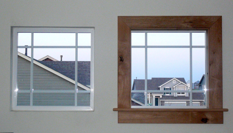 Kitchen window molding  diy modern easy craftsman window trim