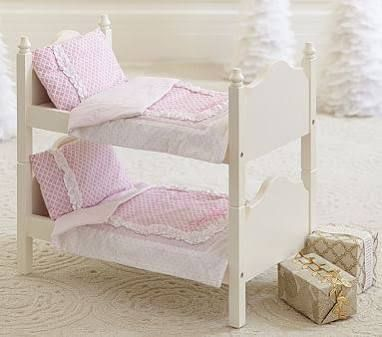 Doll Bunk Bed At Pottery Barn Kids Dollhouse Accessories