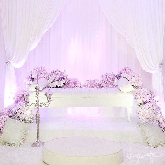 Wedding Nikah Simple Backdrop Decoration Muslim: Wedding Decorations, Wedding