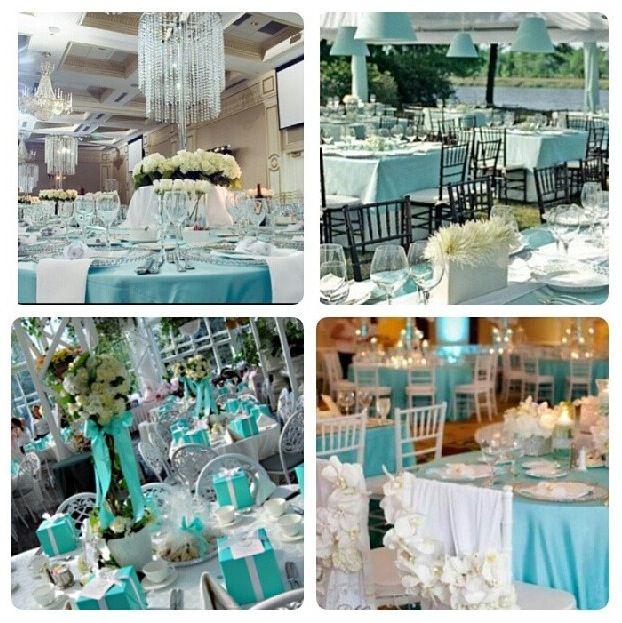 Tiffany Blue Wedding Decorations: Tiffany Blue Wedding Receptions