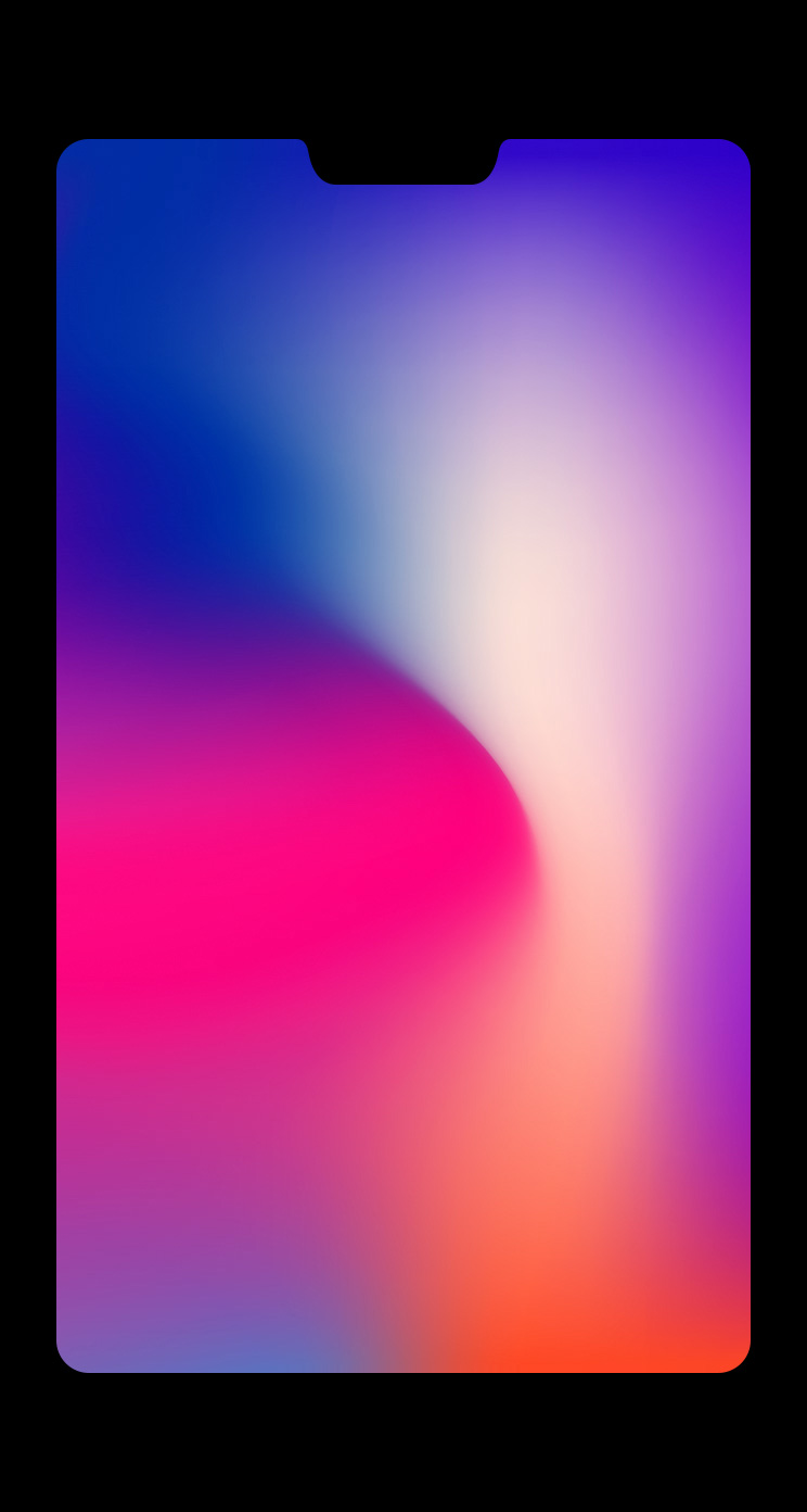 iPhone X notch wallpaper | Phone wallpaper in 2019 | Iphone wallpaper, Live wallpaper iphone ...