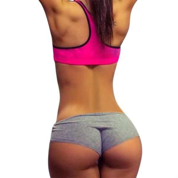 c89459e70accb Casual Women s Fitness Hot Shorts Printed Sexy Woman Workout Short High  Stretch Exercise Trousers