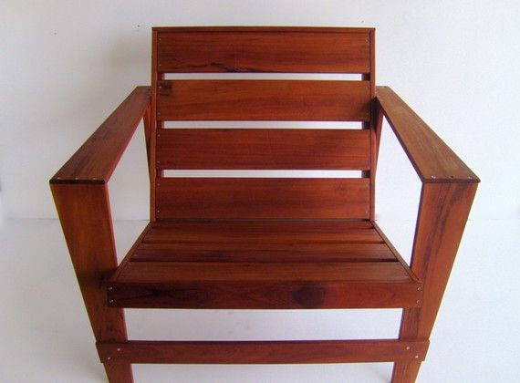 Modern Adirondack Chair Tigerwood by Nyendesigns on Etsy, $550.00