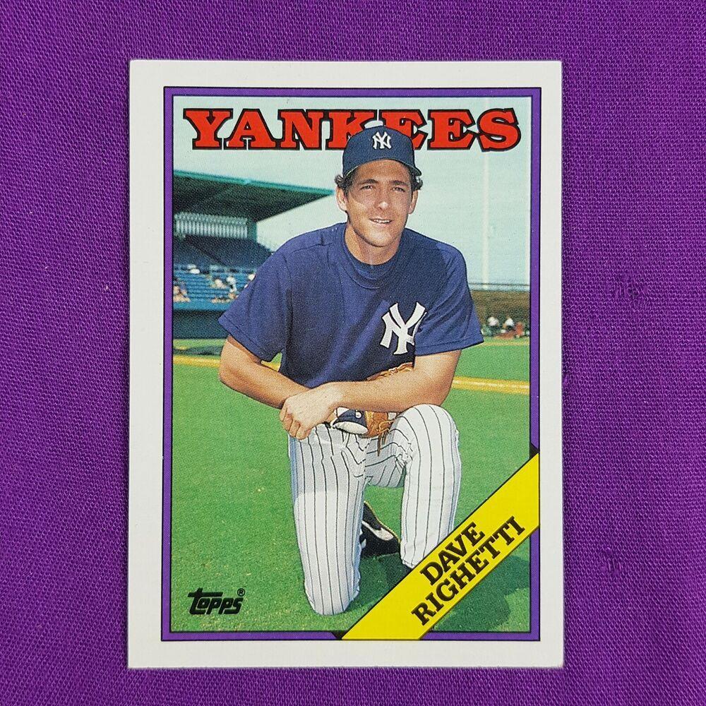 1988 topps baseball trading card 790 new york yankees