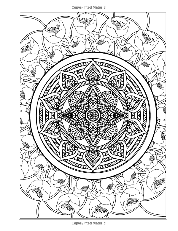 Patterns Amazon The Garden Mandala An Adult Coloring Book Eclectic Books