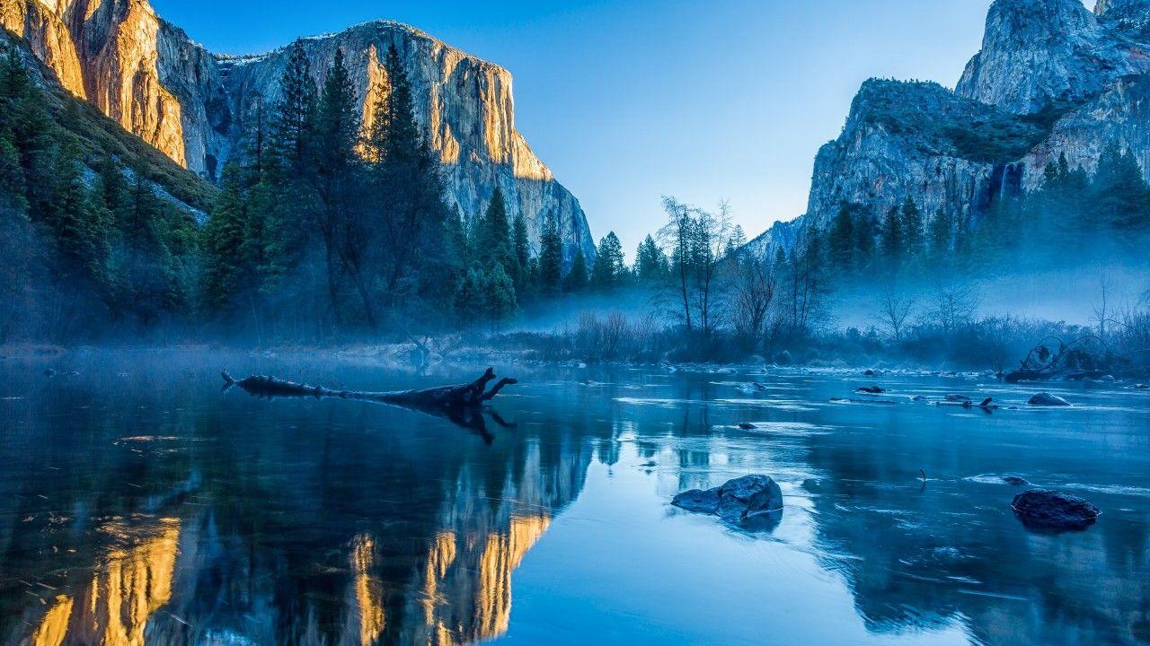 Yosemite El Capitan 5k Wallpapers Winter Forest OSX Apple Mountains