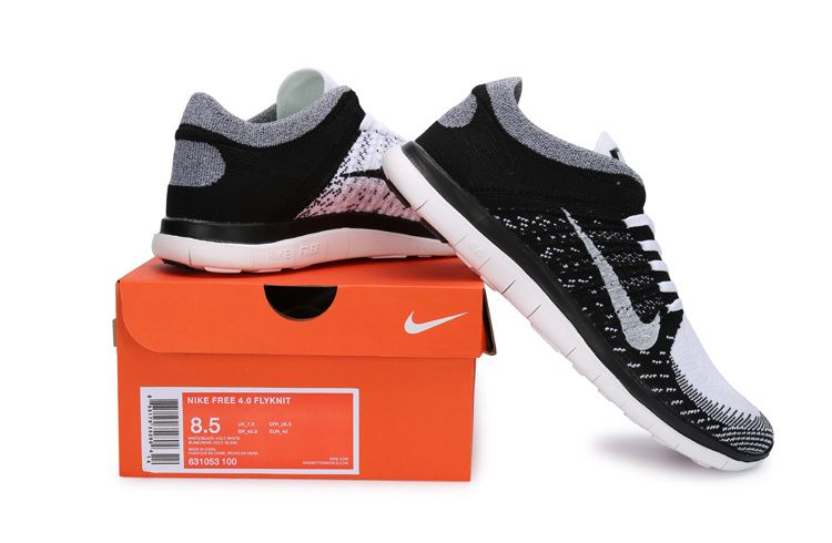 the best attitude c38a5 5f471 Nike Free 4.0 Flyknit 631053-100 White Black Grey ...
