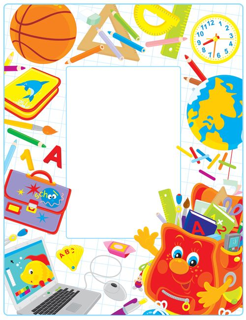 set of back to school elements background vector 02 for ...