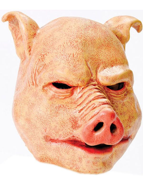 2ee264a2c3cfc Deluxe PIG MASK Scary Horror Latex Halloween Evil Carnival Animal ...