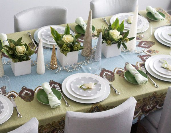 Simple ways to create christmas table setting ideas - Modern christmas table settings ideas ...
