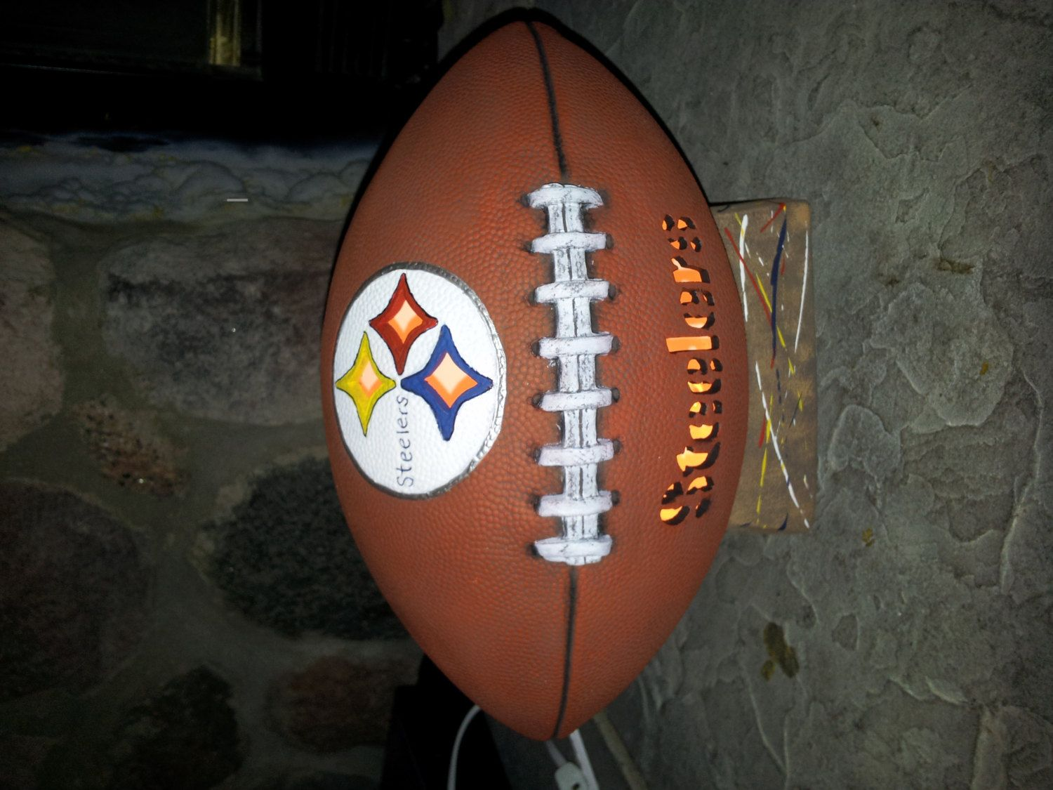 Steelers+Football+light+up+by+ThisIMadeForYou+on+Etsy,+$35.00