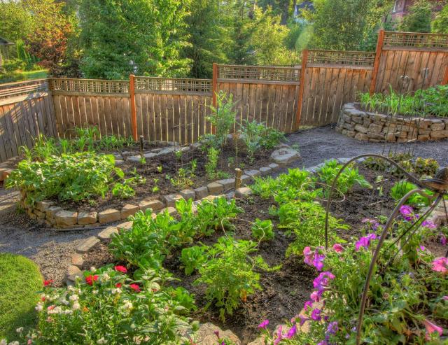 gently sloped terrace garden
