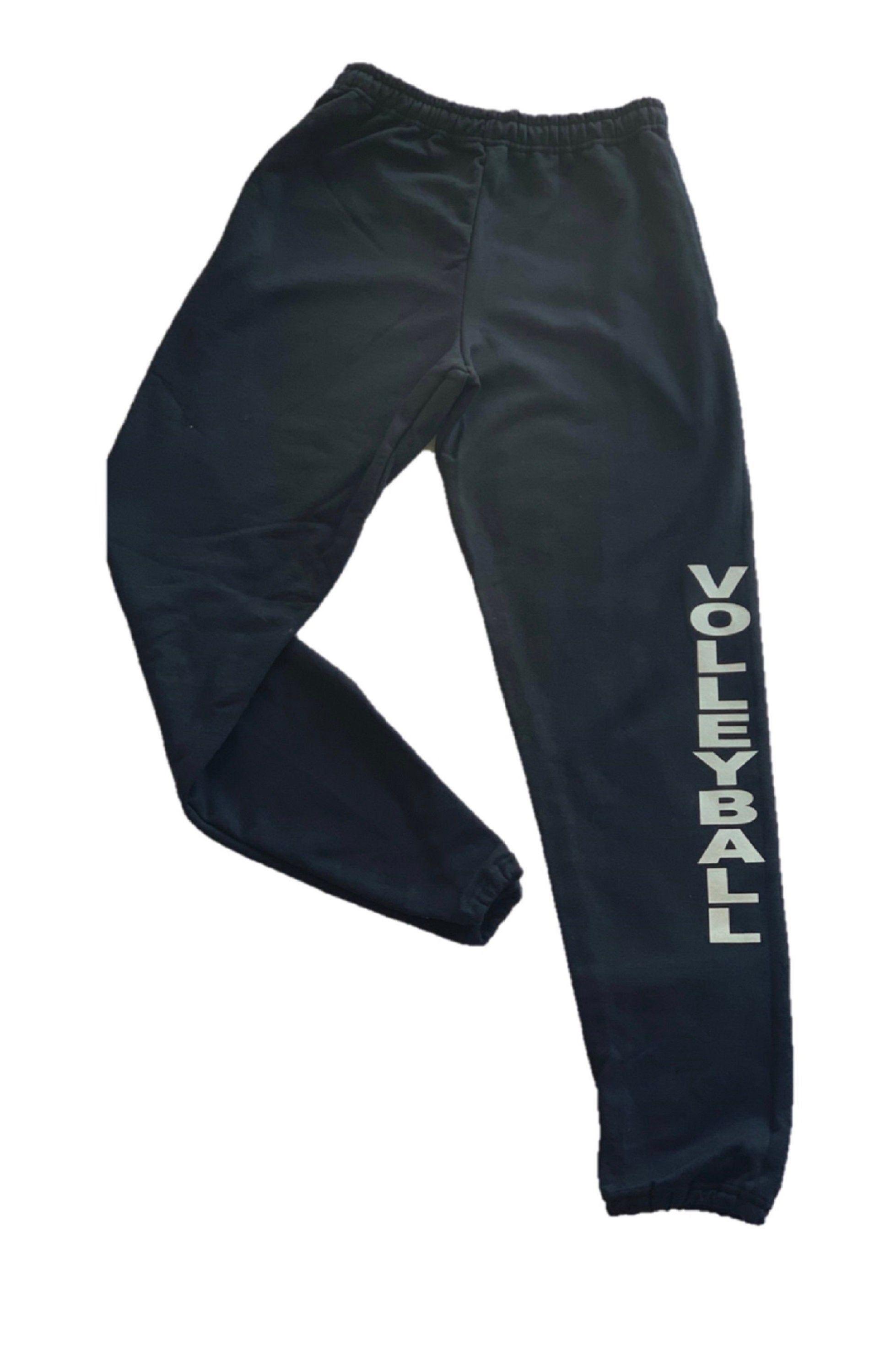 Black Volleyball Sweatpant Etsy In 2020 Sweatpants Volleyball Sweatpants Dance Sweatpants