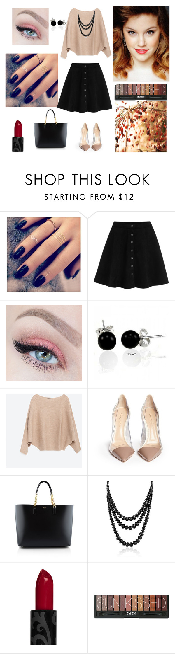 """FOR GIRL"" by jack55-593 ❤ liked on Polyvore featuring beauty, Lottie, Bling Jewelry, Zara, Gianvito Rossi and Yves Saint Laurent"
