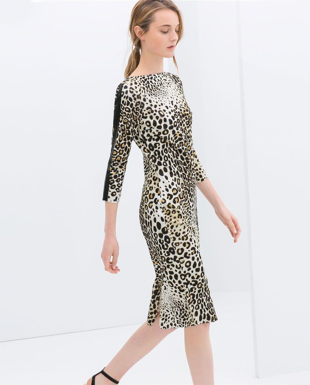 Beauty Fashion Group: COMBINED LEOPARD PRINT DRESS From Zara